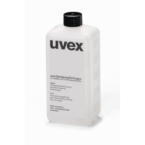 uvex Reinigungsfluid 9972100, 0,5 l Flasche, für Reinigungsstation
