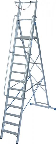 Krause STABILO Stufen-StehLeiter mit großer Plattform und Sicherheitsbügel