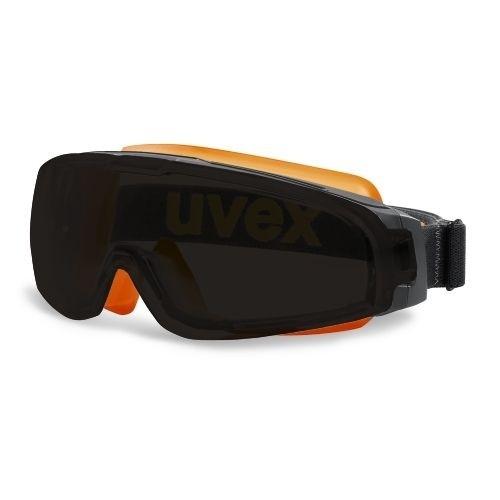 uvex Vollsichtbrille 9308248 u-sonic mit Vorsatzscheibe grau und Magnetkopfband