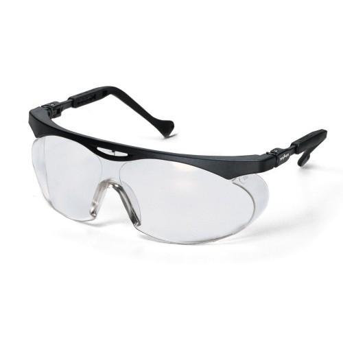 uvex Schutzbrille 9195075 skyper, schwarz, PC farblos, kratzfest, chemikalienbeständig