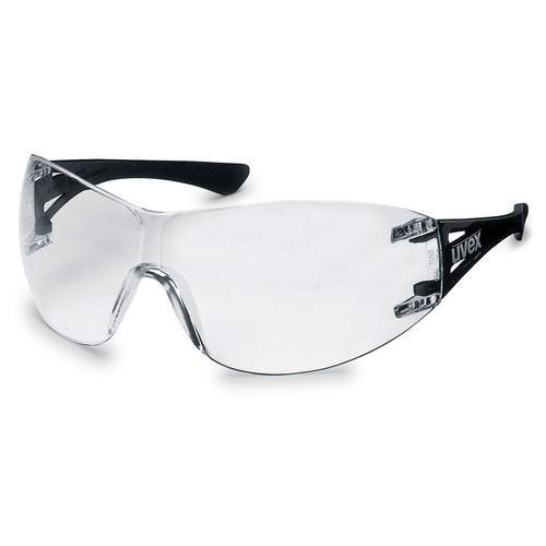 uvex Schutzbrille 9177085 x-trend schwarz, PC farblos, kratzfest, chemikalienbeständig