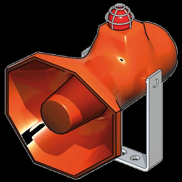 B-Safety Blitzlicht-Sirene-Kombination BR 870 575 (Xenon, rot) für Notduschen