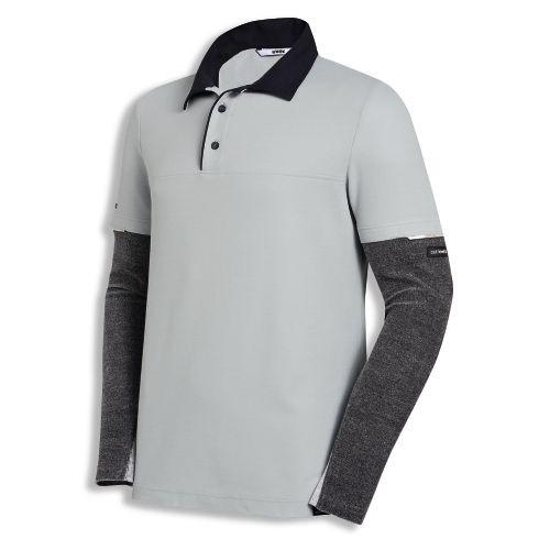 uvex Schutzbekleidung cut nanoflex Poloshirt hellgrau mit Schnittschutzärmel Modell 7437