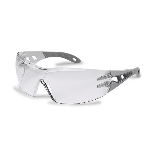 uvex Schutzbrille 9192215 pheos, hellgrau/grau, PC farblos, metallfrei, beschlagfrei, kratzfest
