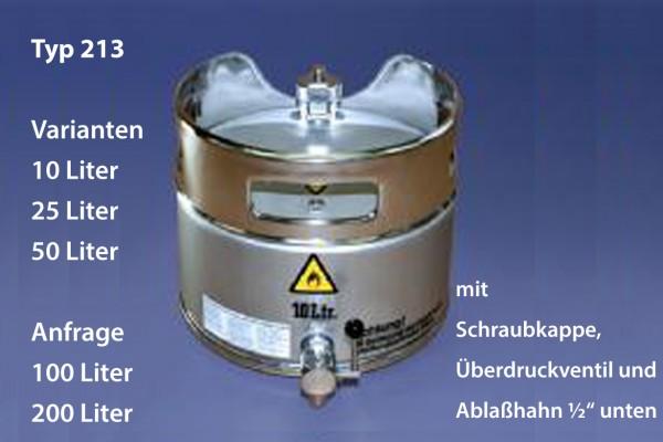 Original Salzkotten Sicherheits-Standgefäß Typ 213, 50 Liter mit Schraubkappe und Ablaßhahn