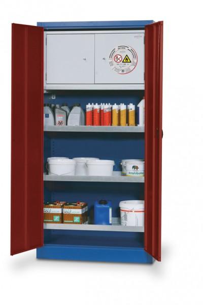Umweltschrank E-CLASSIC-UF Modell E.195.095.F mit Inneneinrichtung und Typ 30 Sicherheitsbox