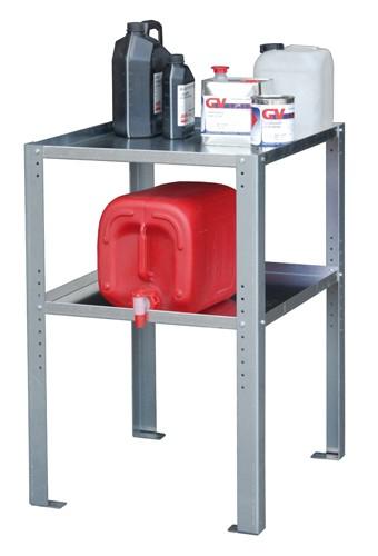 Bauer Gebinderegal Typ GR-A Stahl verzinkt mit 2 Fachböden für Kleingebinde