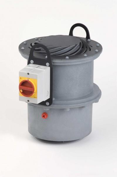 Kleinradial-Dachventilator FDvF 110+/2/PTC, 0 - 460 m³/h, 2-polig, Flatausführung