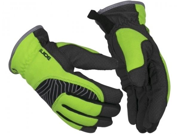 Schutzhandschuhe 24 Guide Winter aus Synthetikleder mit Reflexapplikationen, wasserdicht