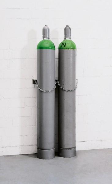 Gasflaschen-Wandhalterung aus Stahl für 2 Flaschen, Ø 140 mm, Typ L.18013