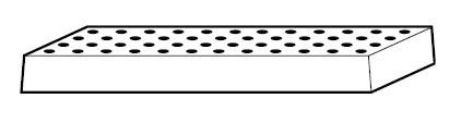 Lochblech 1024 x 417 x 60 mm, Stahlblech pulverbeschichtet RAL 7035
