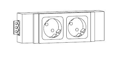 Strom-Box für Serie function 2 Schuko Steckdosen