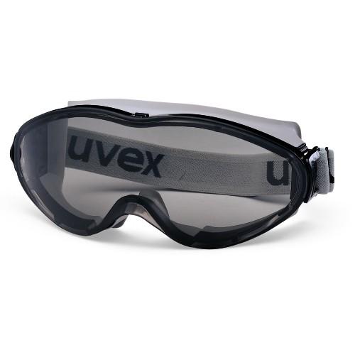 uvex Vollsichtbrille 9302286 ultrasonic mit Kopfband, schwarz/grau, PC grau, Sonnenschutz