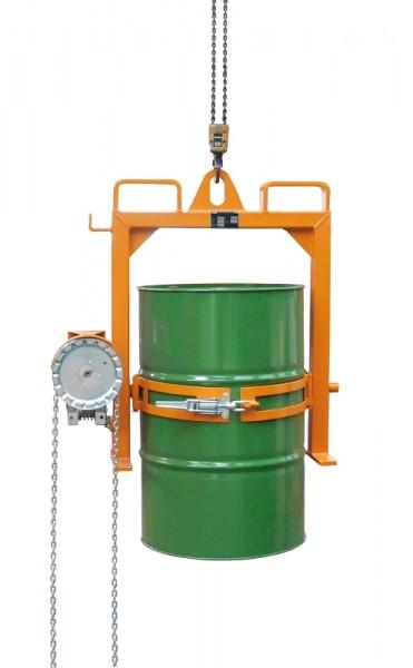 Bauer Fasskipper Typ FD-SK mit Kette für 200-l-Stahl-Spund- und Deckelfässer, für Kran und Stapler