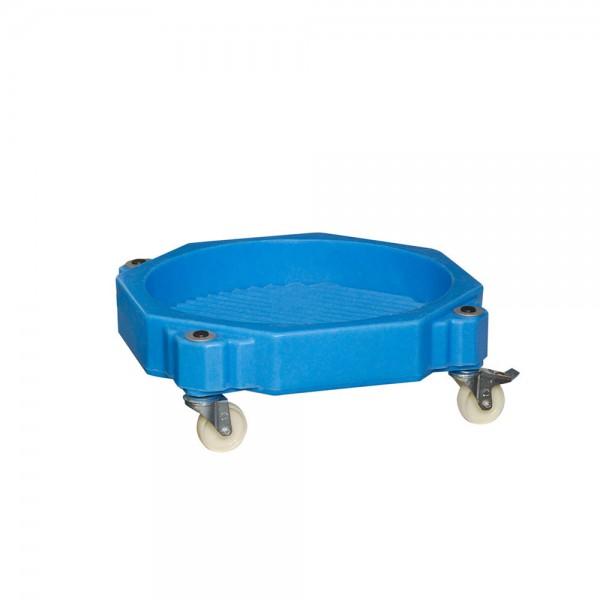 Fassroller mit Wanne FR-K ohne Bügel, Kunststoff PE, blau