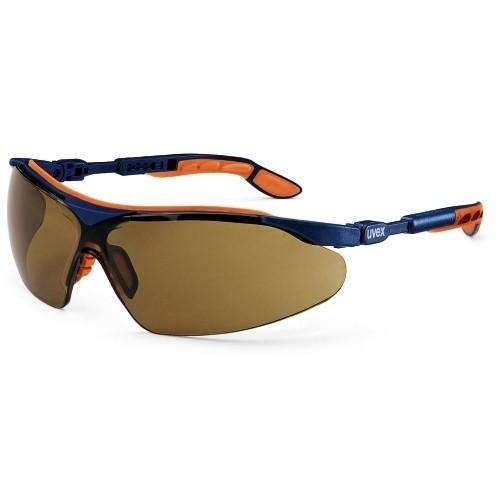 uvex Bügelbrille 9160068 i-vo, blau/orange, PC braun, Sonnenschutz, verstellbare Bügel