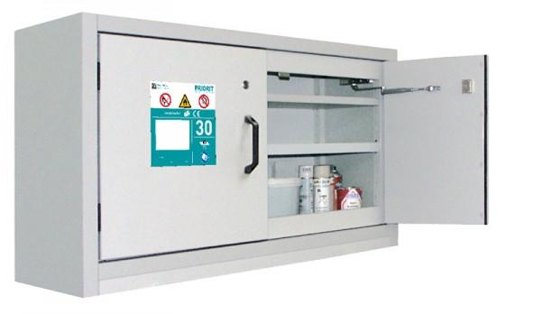 Priorit Untertisch-Sicherheitsschrank Priocab Typ30 2-flügelig, 1 Bodenwanne, Edelstahl