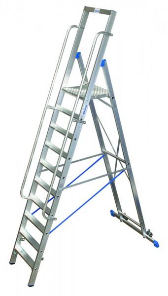 Krause STABILO Stufen-StehLeiter mit großer Standplattform, fahrbar
