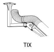 Fumex Deckenkonsole TIX RF, Edelstahl, für Absaugarme R EX, R EXC, RZ EX und RZ EXC