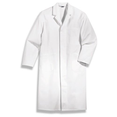 uvex Berufsbekleidung whitewear Herrenmantel weiß Modell 143 aus Baumwolle