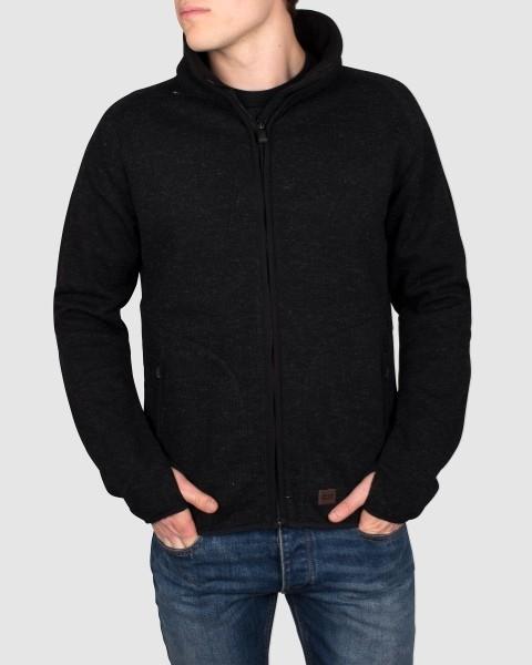 Dunderdon Berufsbekleidung Original Line Wolljacke KN1 mit Reißverschluss, schwarz