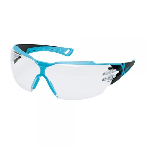uvex Schutzbrille pheos cx2, 9198256, schwarz/hellblau, PC farblos, beschlagfrei