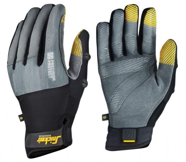 Snickers Workwear 9574 Präzisions Protect Handschuhe, steingrau/schwarz