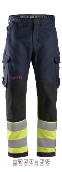 Snickers Workwear 6363 ProtecWork Schweißer-Arbeitshose navy/signalgelb, antistatisch, Klasse 1