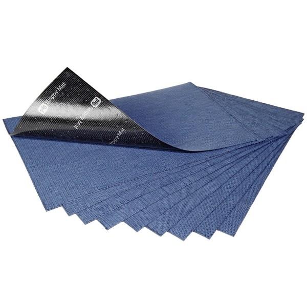 Grippy selbsthaftende Saugmatten, blau, 41 x 61 cm, 10 Matten im Beutel