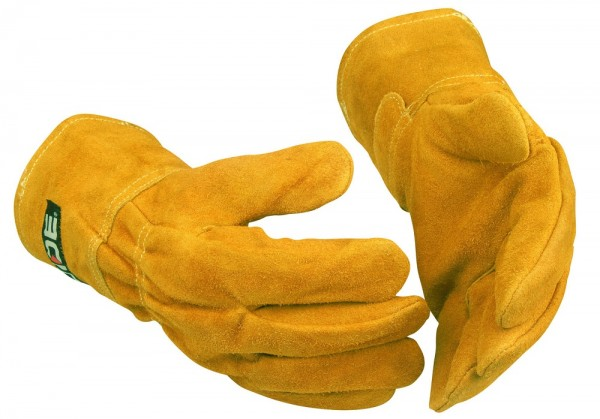 Hitzeschutz-Handschuhe 268 Guide PP Gr. 10 aus Leder, kurze Stulpe, Gummizug