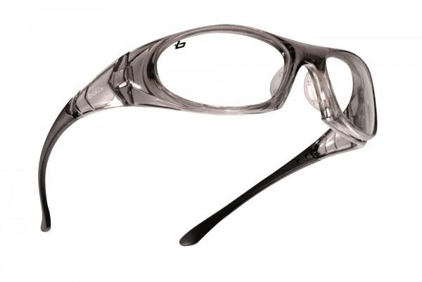 bolle Schutzbrille BOSS - BOSSPSI, klares PC, rutschfester Nasensteg, Kratzfest, Beschlagfrei