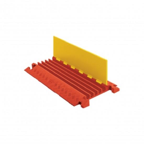 Checkers Linebacker Heavy Duty 5 Kanal-Kabelschutz, 91x51x6cm, Klappdeckel, gelb/orange