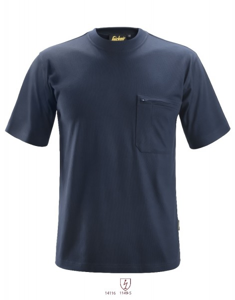 Snickers Workwear 2561 ProtecWork Kurzarm-T-Shirt, navy, antistatisch