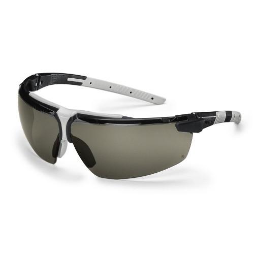 uvex Schutzbrille i-3 9190281, schwarz/hellgrau, PC grau, Sonnenschutz