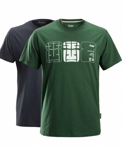 Snickers 2522 T-Shirt bedruckt, 2er-Pack
