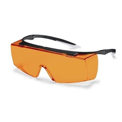 uvex Überbrille 9169615 super f OTG, schwarz/weiß, PC orange, Blaulichtblockend 525nm, Kratzfest