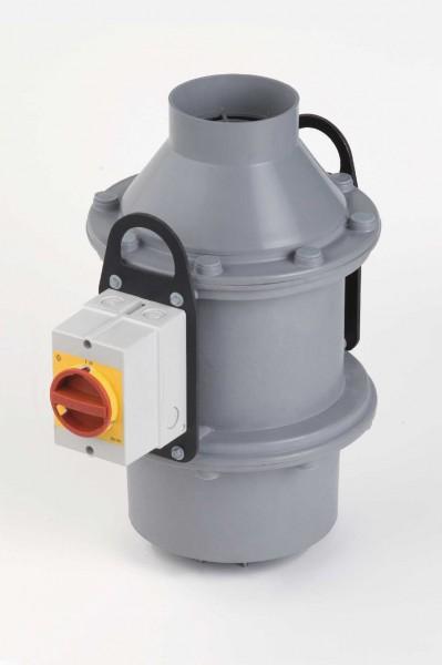 Kleinradial-Dachventilator FDv 110+/2/EX, EExe II T 3, 0 - 460 m³/h, 2-polig, Trichterausführung