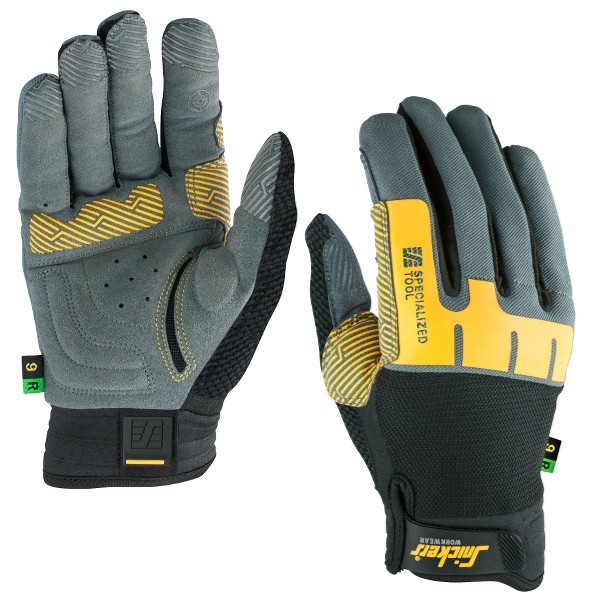 Snickers Workwear 9598 Specialized Tool Handschuh Rechts, steingrau/schwarz