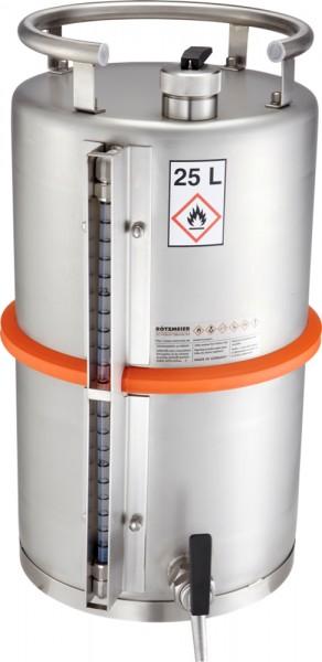 Rötzmeier Sicherheitsstandgefäß 25 Liter, Typ 25ZI mit Zapfhahn und Inhaltsanzeige
