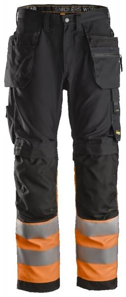 Snickers Workwear 6233 AllroundWork, High-Vis Arbeitshose mit Holstertaschen, EN 20471 Klasse 1