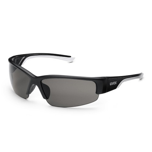 uvex Schutzbrille polavision 9231960, schwarz/weiß, PC grau, Sonnenschutz