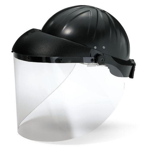 uvex Visier 9708 CA farblos, beschlagfrei, mit Stirnabdeckung und Kopfschutzhaube