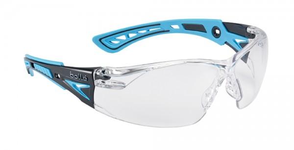 bolle Schutzbrille RUSH+ - RUSHPPSIB klares PC, Bügel blau / schwarz, PLATINUM