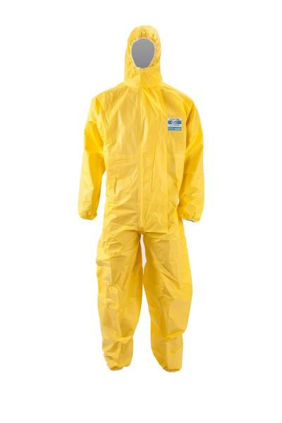 ChemDefend 310 Chemikalienschutzanzug gelb, Füsslinge mit Überwurf, Doppel-RV, 20 Stück