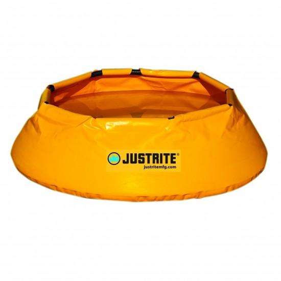 Justrite Pop-Up Pools 28321, faltbare Auffangwanne rund, 250 L, gelb, 1168∅ x 355 mm