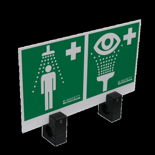 B-Safety Hinweisschild BR 870 100 für Notduschkombinationen, 300 x 150 mm, Montage Duscharm