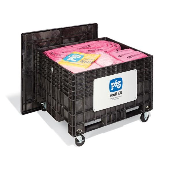 Extragroße Notfall-Transportkarre mit Gummireifen, Chemikalien, KIT304