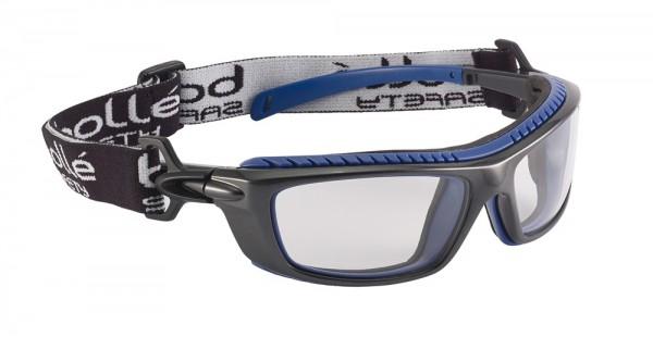 bolle Schutzbrille BAXTER - BAXPSI, klare PC Scheibe, Schaumstoff und Kopfband