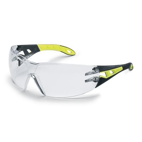 uvex Schutzbrille 9192710 pheos s, schwarz/lime, PC farblos, kratzfest, beschlagfrei