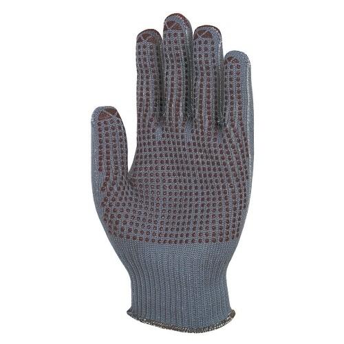uvex Stricknoppenhandschuhe unigrip 6624 grau/rot mit PVC-Noppen, 10 Gauge